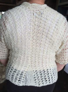 back of Lizzy Tatro's sweater